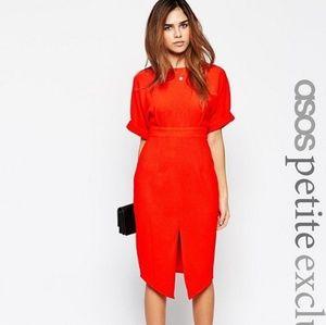 NWT Asos Petite Wiggle Dress Orange size 12